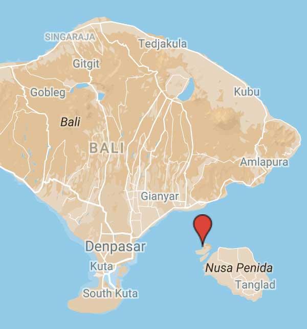 Yoga Bali Retreat Nusa Lembongan Map