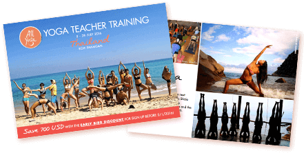 brochures of the yoga ashtanga vinyasa retreat